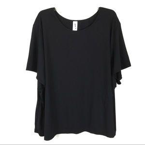 Swimsuits for All Black Shirt Top Rashguard 34/36